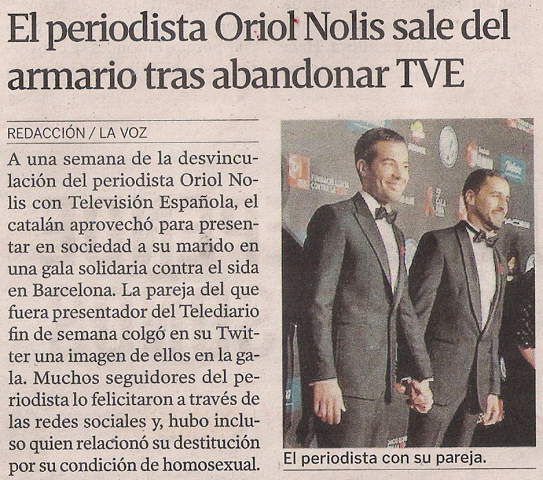 2014-11-26- La Voz de G- Oriol Nolis TVE